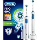 Oral-B PRO 690 CrossAction Aikuinen Pyörivä värähtelevä. 2b82bcc7ae762
