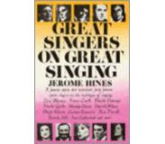 Book Great Singers on Great Singing