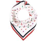 J.CREW ITALIAN SCARF IN SMOOCH PRINT Huivi ivory/navy/red One Size