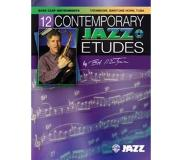 Book 12 Contemporary Jazz Etudes: Bass Clef Instruments, Book & CD