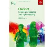 Book Clarinet Scales & Arpeggios and Sight-Reading, ABRSM Grades 1-5