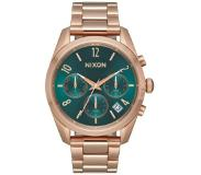 Nixon The Bullet Chrono 36 all rose gold / emerald Koko Uni