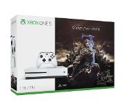Microsoft Xbox One S Shadow of War Bundle 1TB 1000GB Wi-Fi Valkoinen