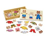 Melissa & Doug Bear Family Dress-Up 45kpl
