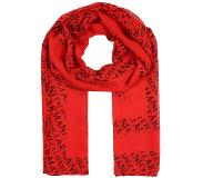 Armani Exchange Connected SCARF Huivi poppy red/navy One Size