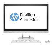 "HP Pavilion 27-r050no 2.4GHz i5-7400T 27"" 1920 x 1080pikseliä Valkoinen All-in-One PC"