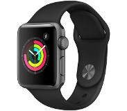 Apple WATCH SERIES 3 38MM MUSTA URHEILURANNEKE