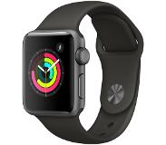 Apple Watch Series 3 38mm (harmaa sporttiranneke)