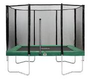 Salta Combo trampoline rectangle (Edge color: green, Width: 214 cm)