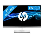 "HP EliteDisplay E273 LED display 68,6 cm (27"") 1920 x 1080 pikseliä Full HD Musta, Hopea"