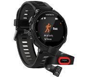 Garmin Forerunner 735XT Musta, Harmaa Run Bundle
