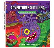 Enigma Dungeons and Dragons - Adventures Outlined Coloring Book (WTCC6035)