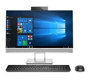 "HP EliteOne 800 G4 60,5 cm (23.8"") 1920 x 1080 pikseliä 8. sukupolven Intel Core i5 i5-8500 8 GB DDR4-SDRAM 256 GB SSD Musta, Hopea All-in-One PC"