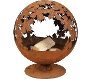 Esschert Design Fallen Fruits Laser Cut fire pit leaves
