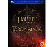 Blu-ray The Hobbit Trilogy and The Lord of the Ring Trilogy - 6-Film Extended Editions (Blu-ray) (30-disc) (Tuonti)