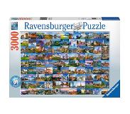 Ravensburger 99 Beautiful Places in Europe Palikkapalapeli 3000 kpl