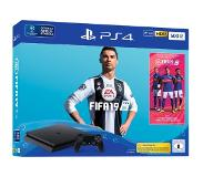Sony PlayStation 4 Slim + FIFA 19 Musta 500 GB Wi-Fi