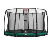 Berg Champion InGround -trampoliini, sis. Deluxe turvaverkon 430 cm green