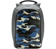 XD Design Bobby Compact Prints anti-theft backpack (Main colour: camouflage/blue)