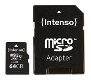 Intenso 64GB microSDXC flash-muisti Luokan 10 UHS-I