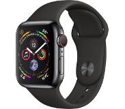 Apple Watch Series 4 (GPS + Cellular) 40mm - Space Black Stainless Steel with Black Sport Band