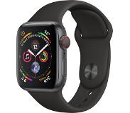 Apple Watch Series 4 GPS + Cellular 40mm (Musta Sport Band)