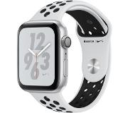 Apple Watch Series 4 Nike+ 44mm (hopea/platina+musta urheiluranneke)