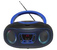 Denver TCL-212BT BLUE CD-soitin Portable CD player Musta, Sininen