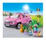 Playmobil Family Car With Parking Lot 9404