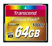 Transcend CompactFlash Card 1000x 64GB flash-muisti Luokka 6