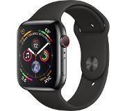 Apple Watch Series 4 GPS + Cellular 44mm (Musta Sport Band)
