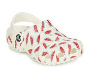 Crocs Classic Graphic Clog Sandaalit, White/Red 20-21