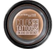 Maybelline Color Tattoo 35 On and On Brown luomiväri Ruskea Satiini