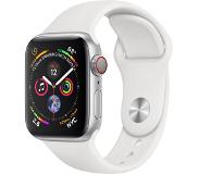 Apple Watch Series 4 GPS + Cellular 40mm (Hopea/Valkoinen Sport Band)