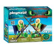 Playmobil - Ruffnut and Tuffnut with Flight Suit (70042)
