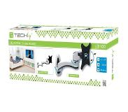 "Techly Tilt Wall Mount for LED LCD TV 15-27 2 Joints Black / White"" ICA-LCD 217S"
