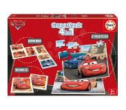 Educa - Puzzle 4v1 Cars 2x puzzle, pexeso and domino - 40-80 pala