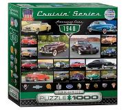 Eurographics - Puzzle American vintage cars of 40's - 1000 pala