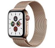 Apple Watch Series 5 (GPS + Cellular) 44mm Gold Stainless Steel Case with Gold Milanese Loop