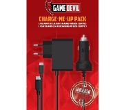 Game Devil Charge-Me-Up Pack incl. USB-C AC Adaptor for Fast/Car Charging, 2.3A