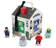 Melissa & Doug - Take-Along Wooden Doorbell Doll's House (12505)