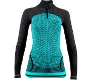 UYN Running Alpha OW LS Zip Up Shirt Women, green jewel/charcoal S 2020 Pitkähihaiset juoksupaidat