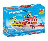 Playmobil Playset City Action Rescue Boat Playmobil (70 pcs)