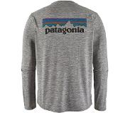 Patagonia Tekniset paidat Miehet, L/S Cap Cool Daily Graphic Shirt, M, P 6 Logo/ Feather Grey
