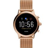 Fossil Gen 5 Smartwatch Julianna HR Rose Gold-Tone Stainless Steel Mesh FTW6062