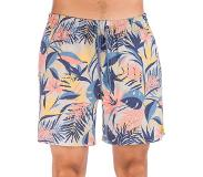 O'Neill Hawaii Floral Boardshorts brown / beige aop w / blue Koko S