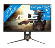 "Asus ROG SWIFT PG258Q LED display 62,2 cm (24.5"") 1920 x 1080 pikseliä Full HD Matta Musta"