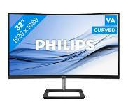 "Philips E Line 322E1C/00 LED display 80 cm (31.5"") 1920 x 1080 pikseliä Full HD LCD Kaareva Matta Musta"