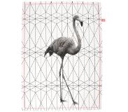 Columbine Tea towel Flamingo Stretched Hexagon