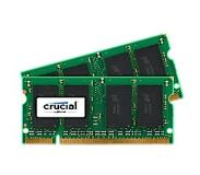 Crucial - DDR2 - 4 GB: 2 2 GB - SO-DIMM 200-pin - 800 MHz / PC2-6400 - CL6 - 1.8 V - puskuroimaton - non-ECC malleihin DFI AM300, CA230, CT930, G5C100, J&W MINI